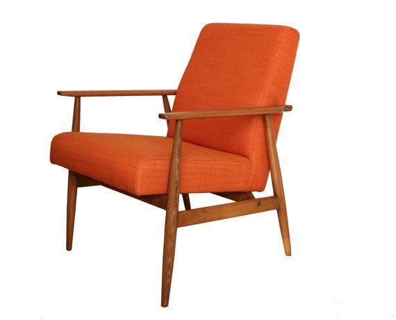 Sessel 60er Jahre Mid Century Orange PRODUKTION AUF