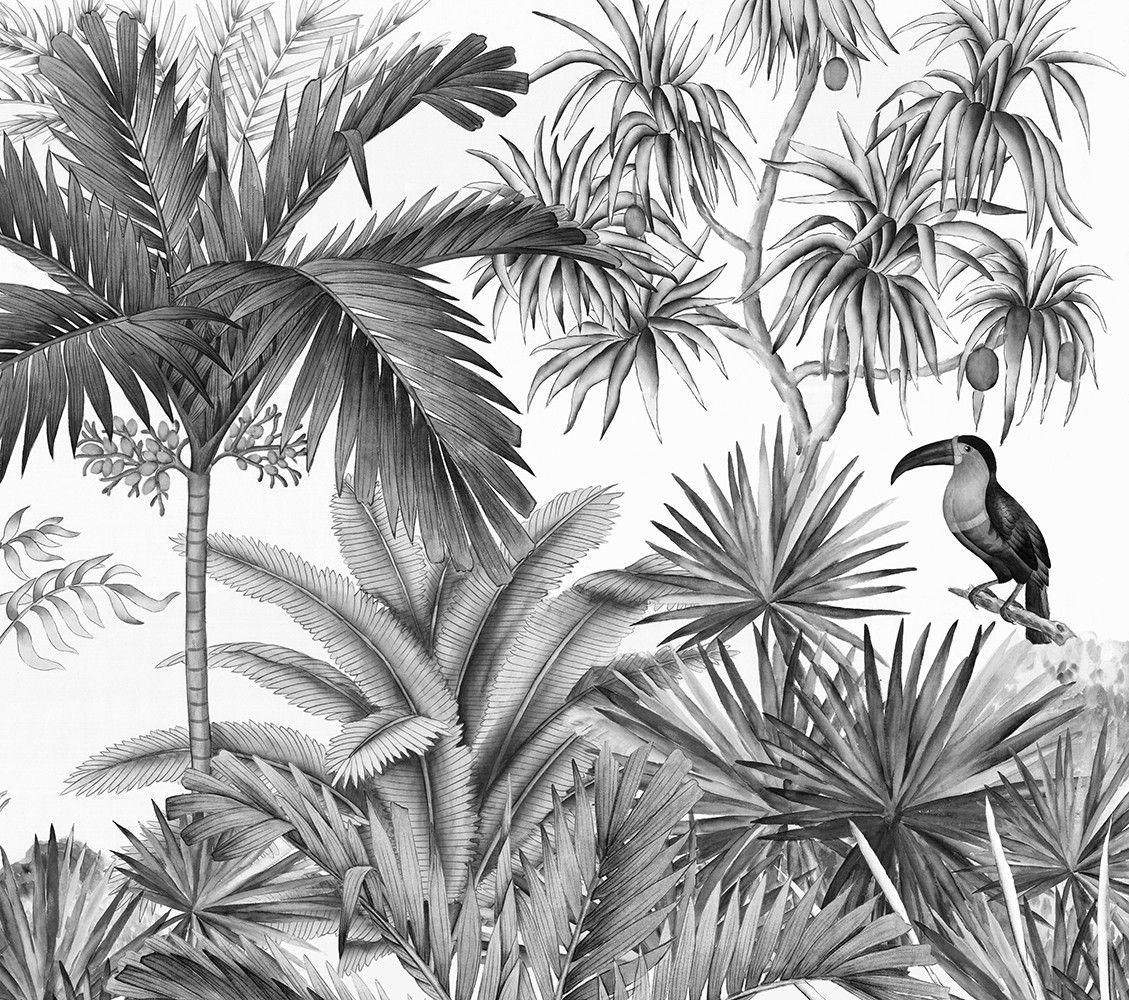 Papier Peint Panoramique Noir Et Blanc papier peint panoramique ananbô jarawa noir & blanc | papier
