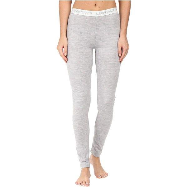 Icebreaker Oasis Leggings (125 NZD) ❤ liked on Polyvore featuring pants, leggings, slimming leggings, merino leggings, elastic waistband pants, icebreaker leggings and merino wool pants