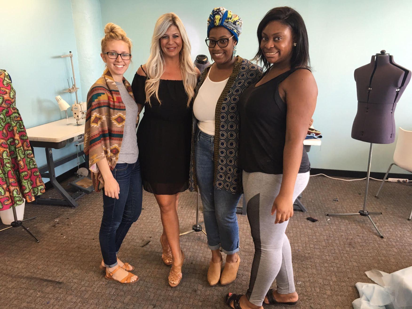 #TeamDFN visits Detroit Garment Group #fashion #detroit #detroitfashion #fashionblogger