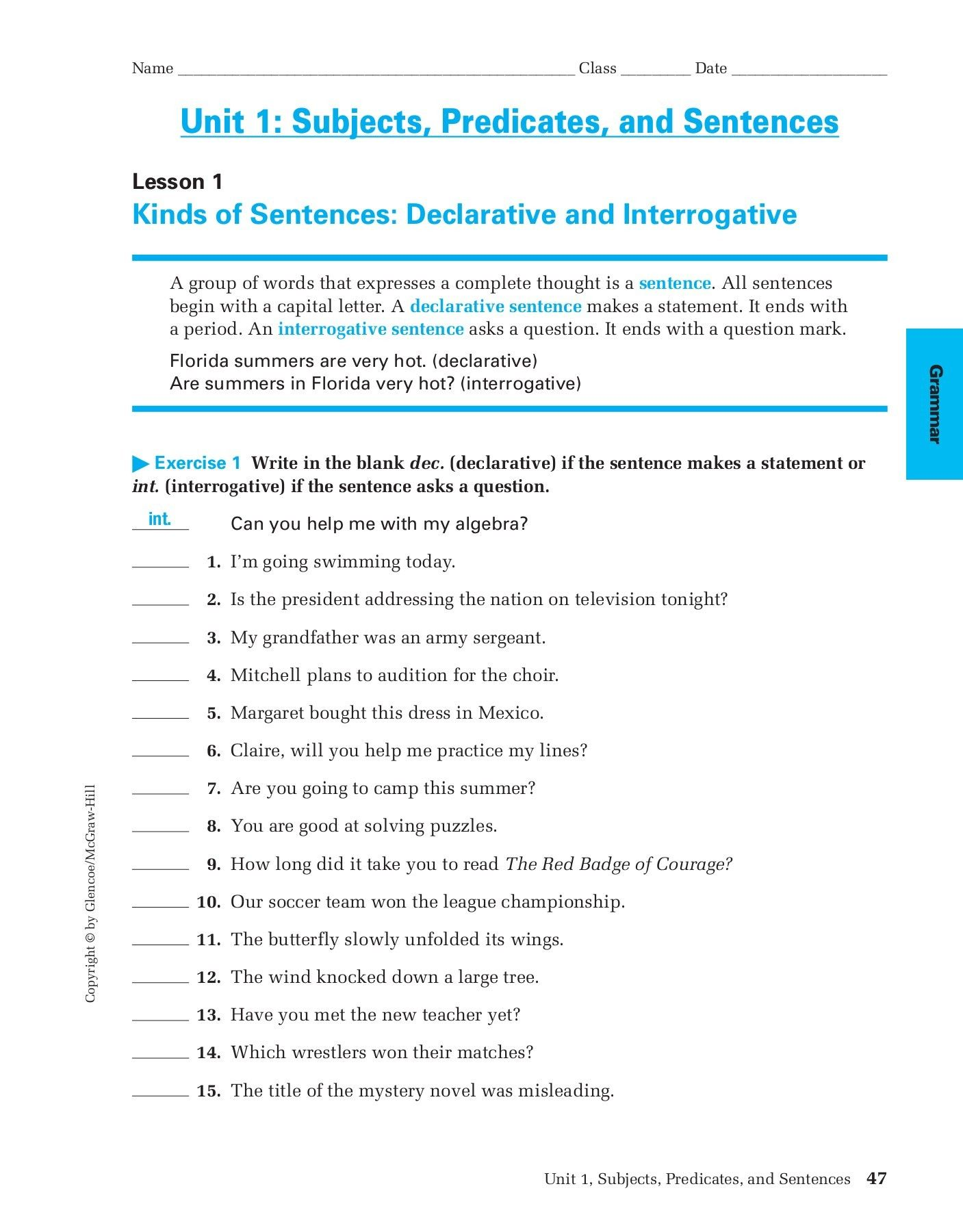 22 Diagramming Adjectives And Adverbs Worksheets Simbologia