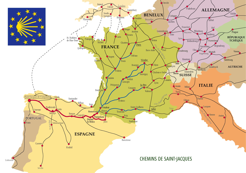 The Way of St James through Europe El Camino de Santiago