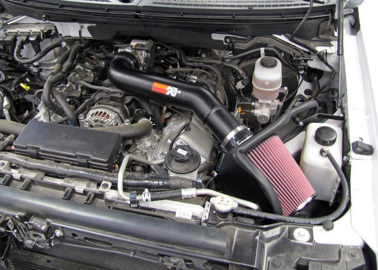 Ford F150 SVT Raptor 6.2L Air Intake Installed K&N