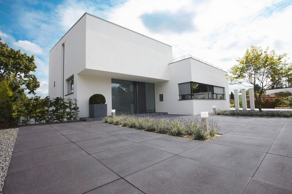 Pflastersteine eingangsbereich  Grau-anthrazit gemasert. | Vorgarten / Eingangsbereich | Pinterest ...