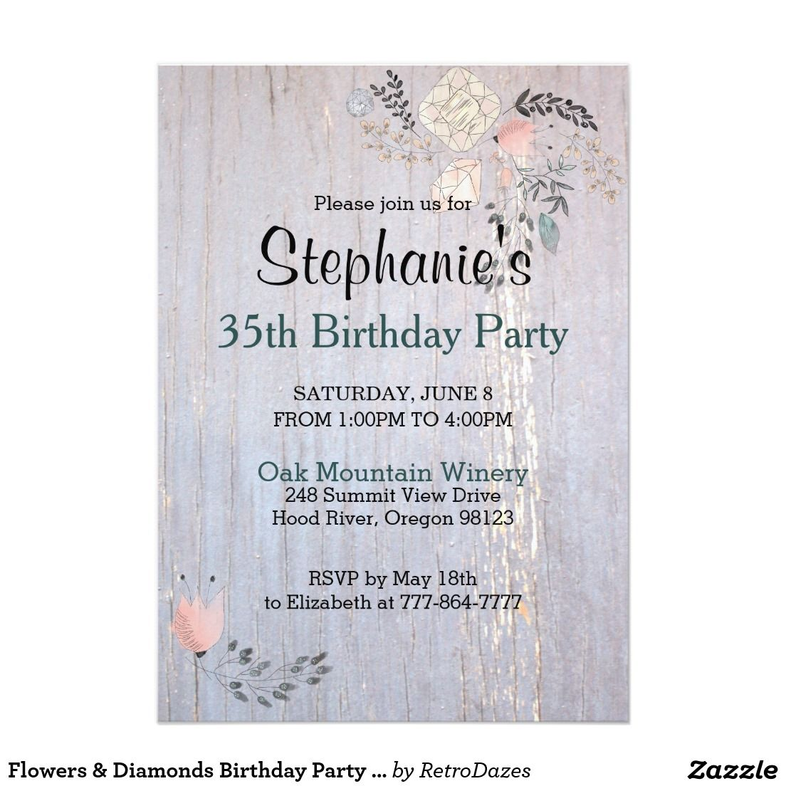 Modern Card Party Invitation Adornment - Invitations Design ...