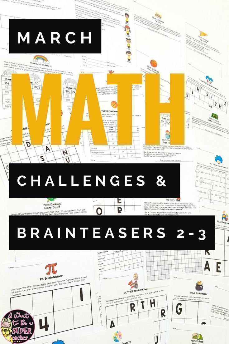 Print-and-go math challenges and brainteasers with holiday ...