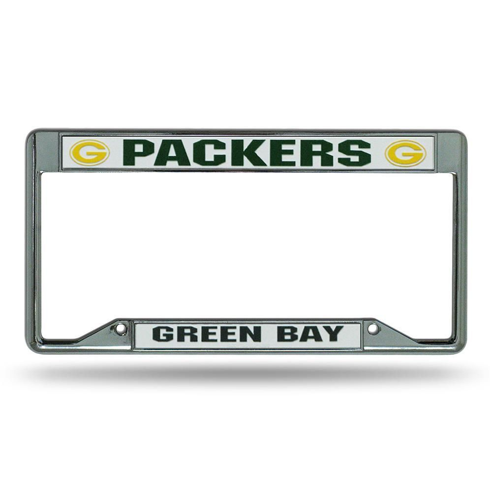 Green Bay Packers NFL Chrome License Plate Frame | Packers nfl ...