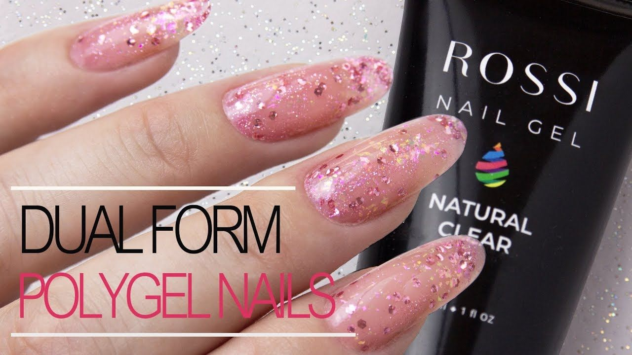 How To Polygel Nails Using Dual Forms With Sparkles Rossi Nail Kit Review Youtube Polygel Nails Nail Kit Nails