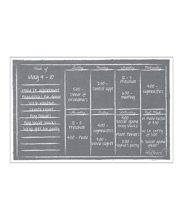 Look at this Gray Dry-Erase Magnetic Weekly Calendar on #zulily