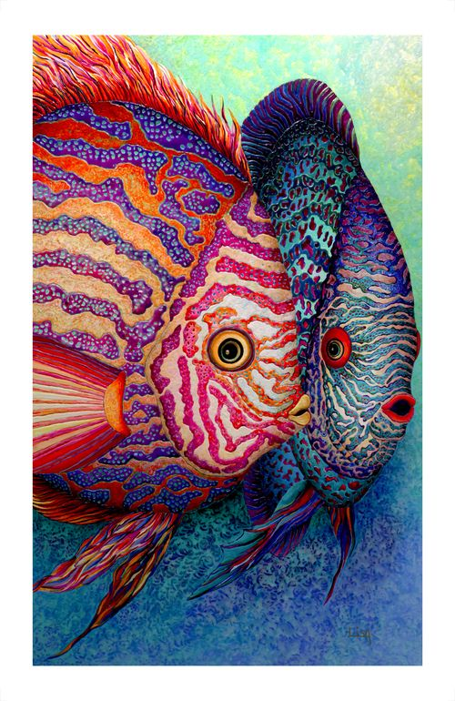 """Saatchi Online Artist: Lisa Benoudiz; Acrylic 2010 Painting """"Deep whispers"""" - think it would be really cool if someone took the time to stipple this"""