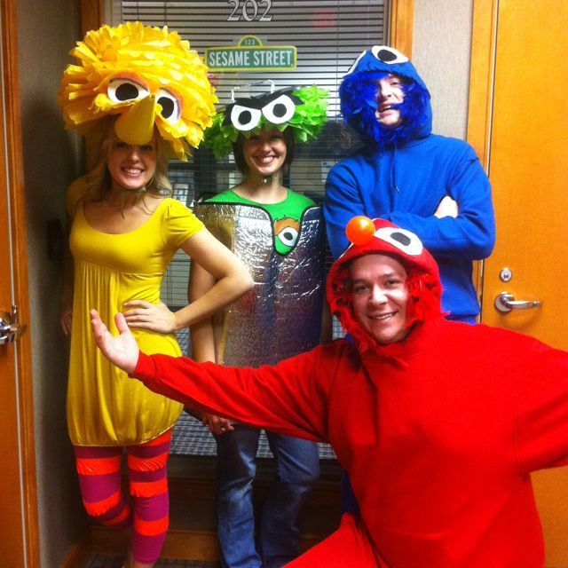 diy halloween costumes mine big bird is made out of tissue paper for the afro felt for the. Black Bedroom Furniture Sets. Home Design Ideas