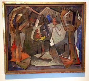 Angel Botello, El Encuentro (1950) - Slow Looking Blog Post