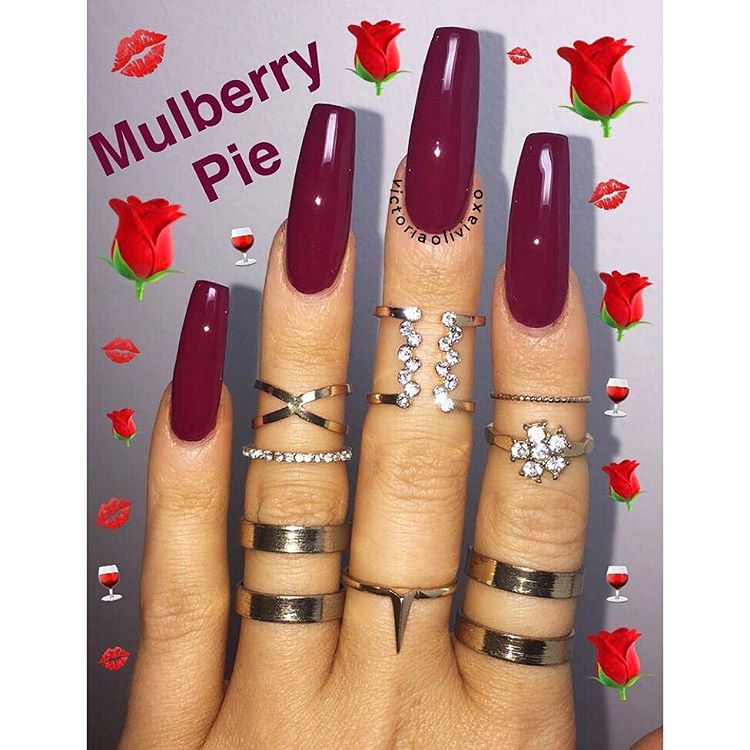 Pin by Ty 👸🏽💕 on Nails | Pinterest | Mulberry pie, Pie and Instagram