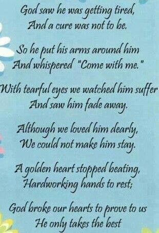 One Month Since You Ve Been Gone Dad I Miss You Prayer For My