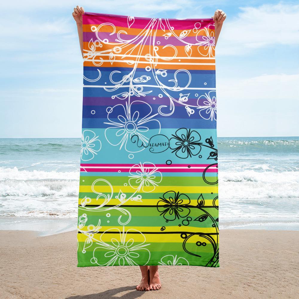 Beach Towel Color Wheel Flowers Beach Towel Beach Tertiary Color