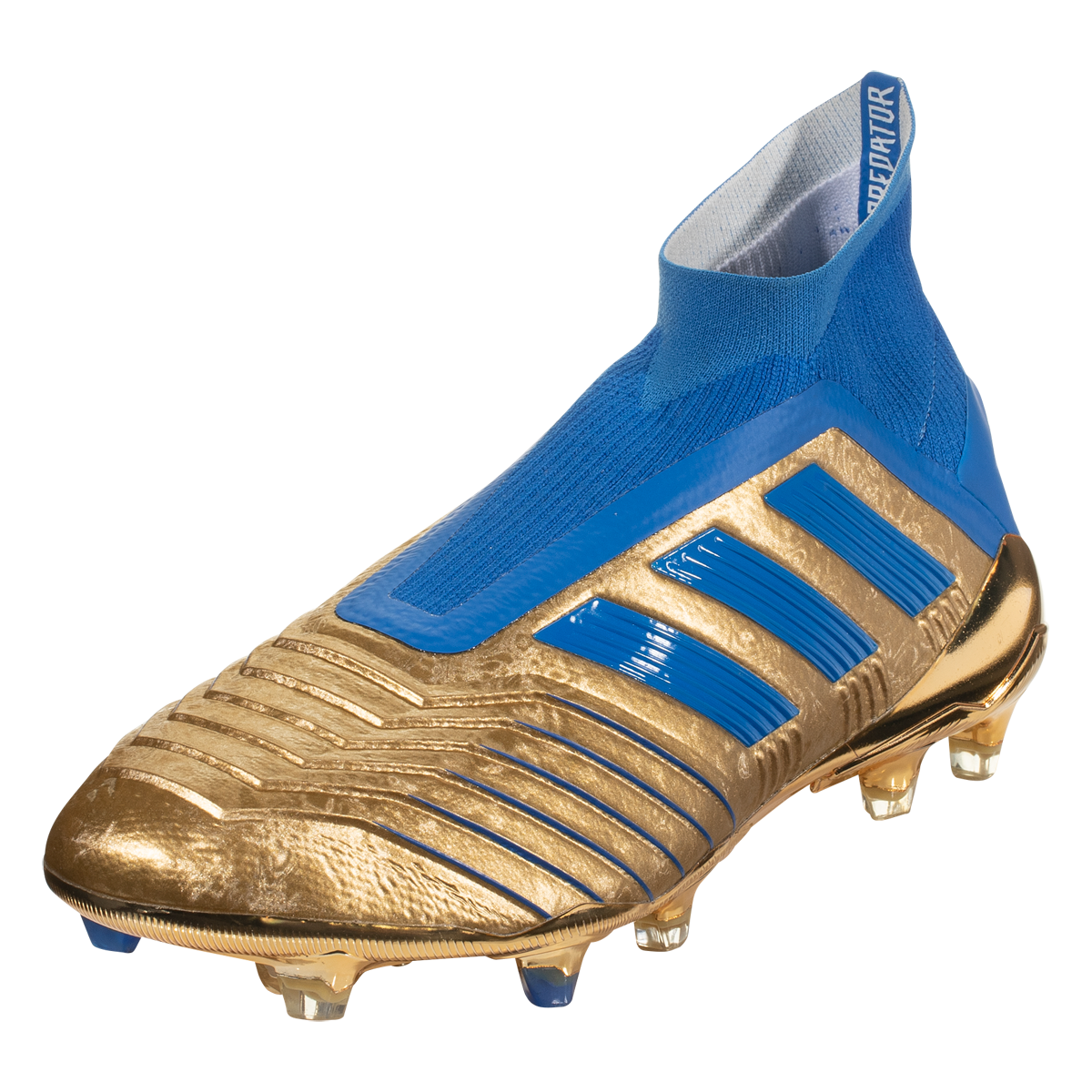 Adidas Predator 19 Fg Soccer Cleat Metallic Gold Blue White 12 5 Soccer Cleats Adidas Predator Nike Football Boots