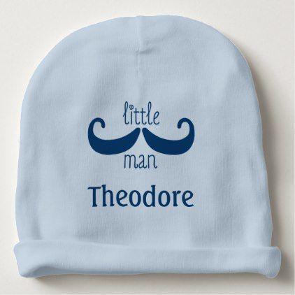 Cute mustache little man custom personalized baby beanie baby cute mustache little man custom personalized baby beanie baby gifts child new born gift idea negle Choice Image