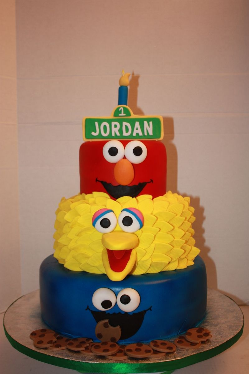 sesame street birthday cake Brought to you by the letter A and the
