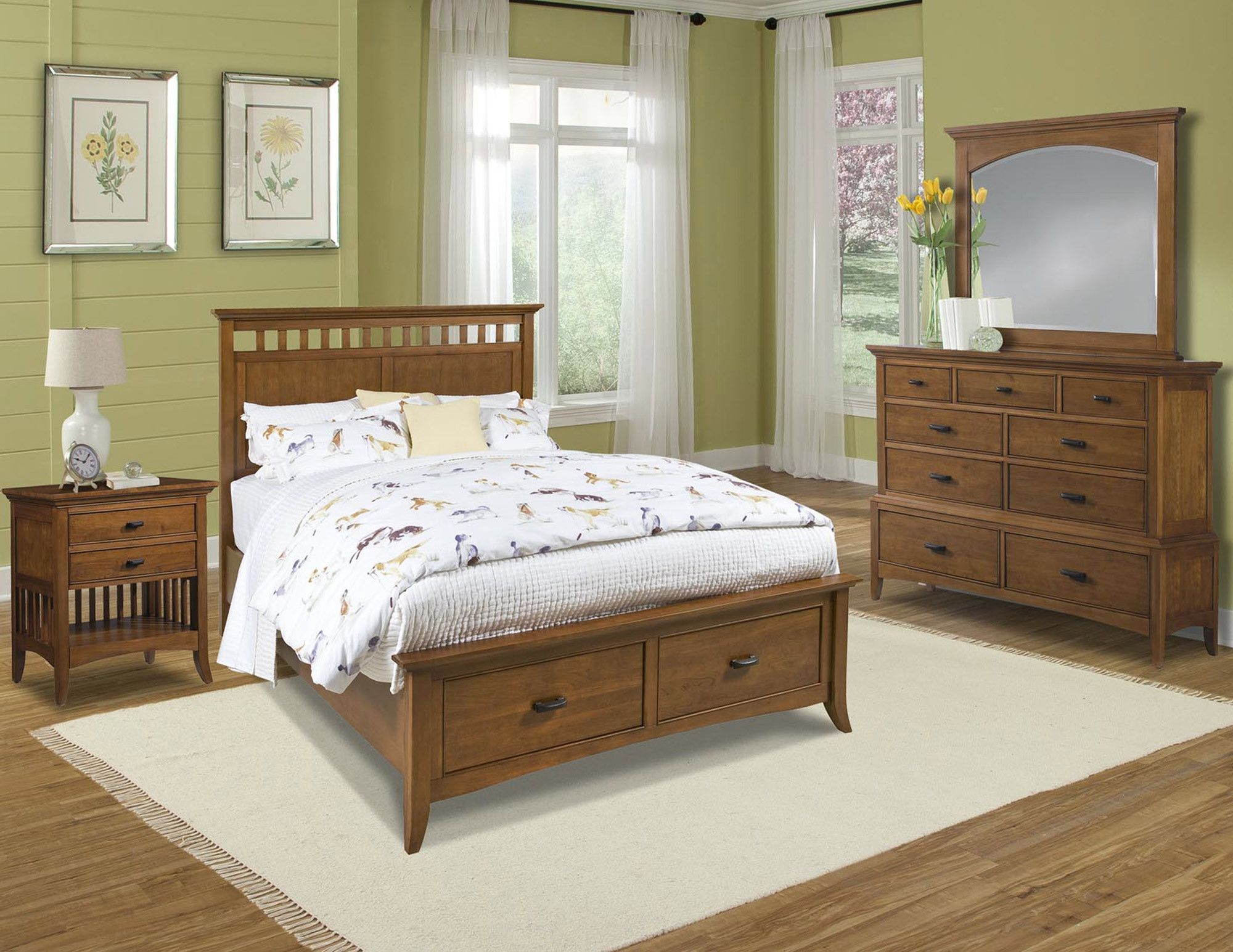 Attrayant Modern Shaker Storage Bedroom Set | Cresent Furniture | Home Gallery Stores