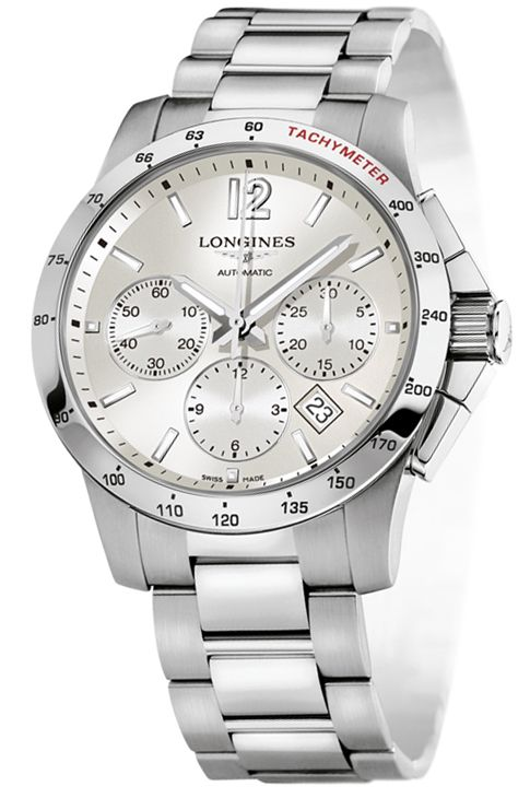 f16512326ae L2.743.4.76.6 Longines Conquest Automatic Chronograph 41mm Mens Watch