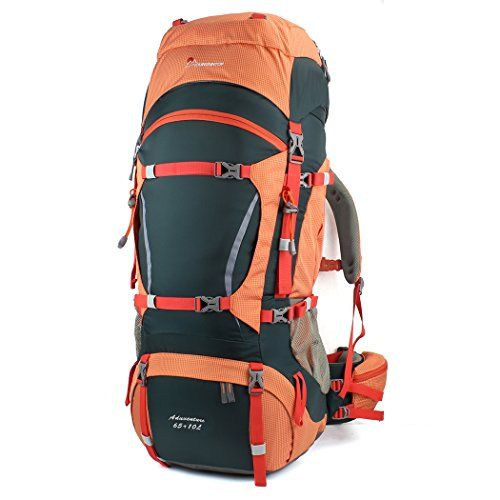 Features Capacity:  1.Front sleeping bag compartment with divider  2.Internal hydration bladder's sleeve and one hydration access for the tube (water bladder not included) 3.There are 1 hip-belt pocke...