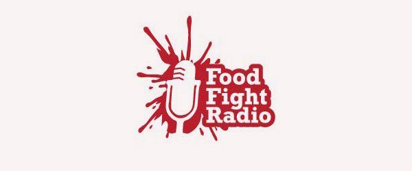 Food Fight Radio Logo Logos Design Negative Space Logos Best Logo Design