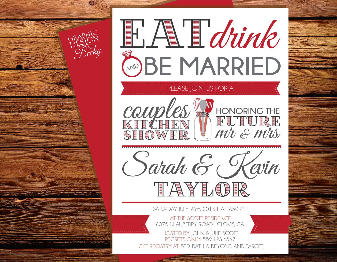 Awesome Coed Wedding Shower Invitations Composition - Invitations ...