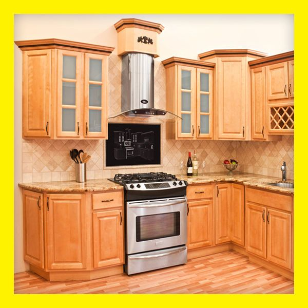 Richmond All Wood Kitchen Cabinets, Honey Stained Maple, Group Sale ...