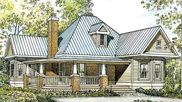 Country House Plan With 1270 Square Feet And 2 Bedrooms S From Dream Home Source Farmhouse Style House Plans Craftsman House Plans Country Style House Plans