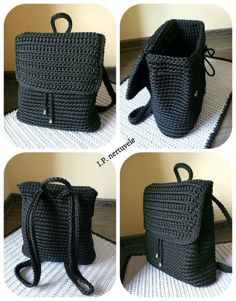 Crochet Backpack Pattern Inspiration Crochet Bag From T Shirt Yarn