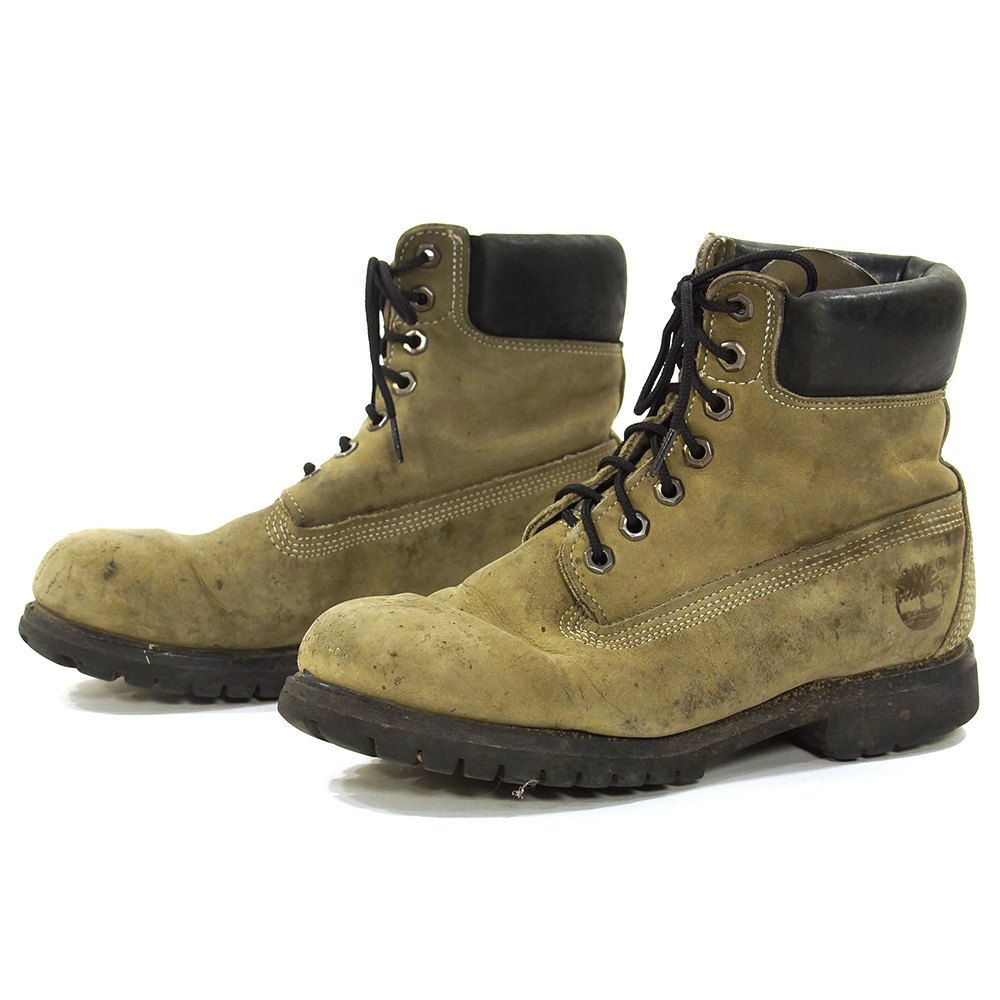 bf4bd824405dd 90s Timberland Lace Up Ankle Boots / Vintage 1990s Distressed Grey ...