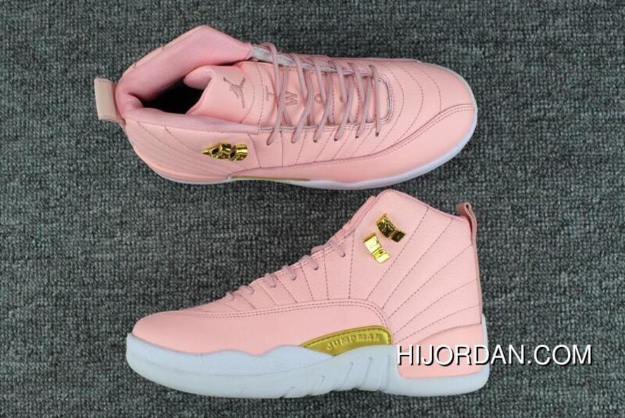 online retailer d9860 43a1c 2017 Air Jordan 12 Gs Pink Lemonade Pink White-Gold Outlet.  sneakersjordans  Jordan Shoes Girls, Womens Jordans ...