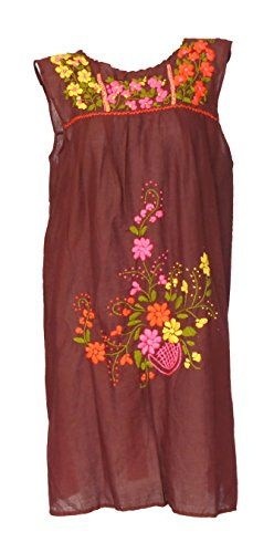 Bonya Women's Embroidered Mexican Tunic Short Dress - Bro... https://www.amazon.com/dp/B01H5QLT2O/ref=cm_sw_r_pi_dp_yovzxbFJJMRQZ