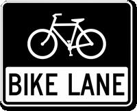 Bike Lane Sign Bicycle Symbol Sku X R3 17 Bicycle Sign Bike Lane Bike
