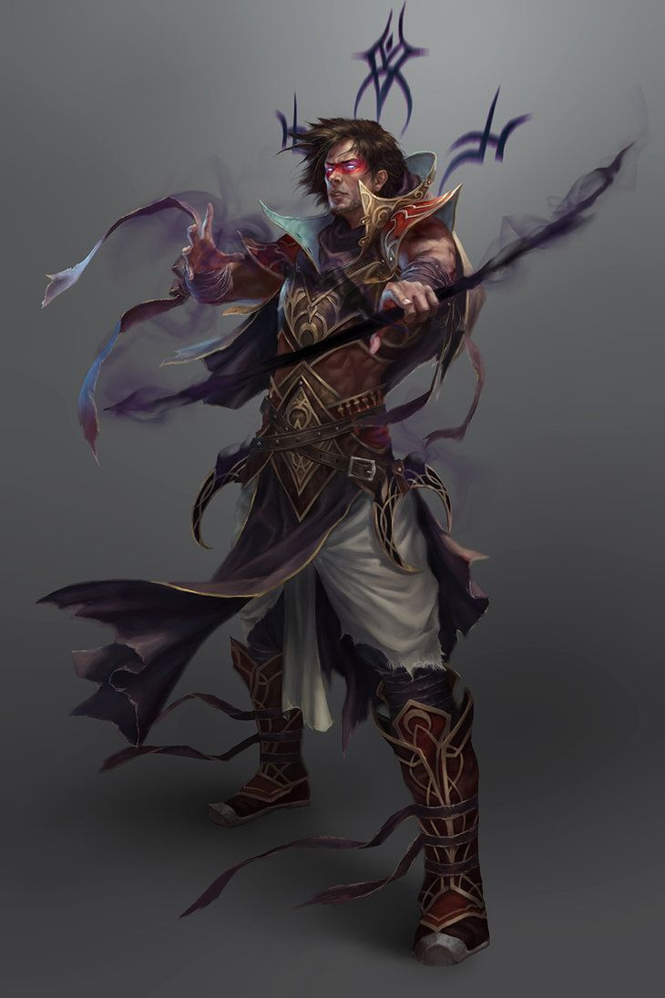 Human Male Sorcerer warlock Arcane Shadow Light Spellcaster Dark