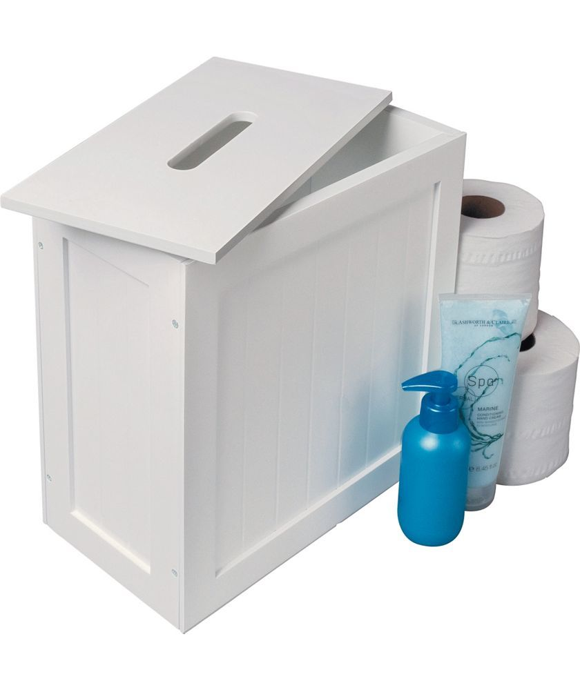 Buy Slimline Shaker Unit with Lid - White at Argos.co.uk - Your Online Shop for Bathroom shelves and units.