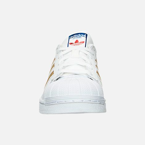 Front view of Girls  Grade School adidas Superstar x Pharrell Williams  Supercolor Casual Shoes 062e98ae079f