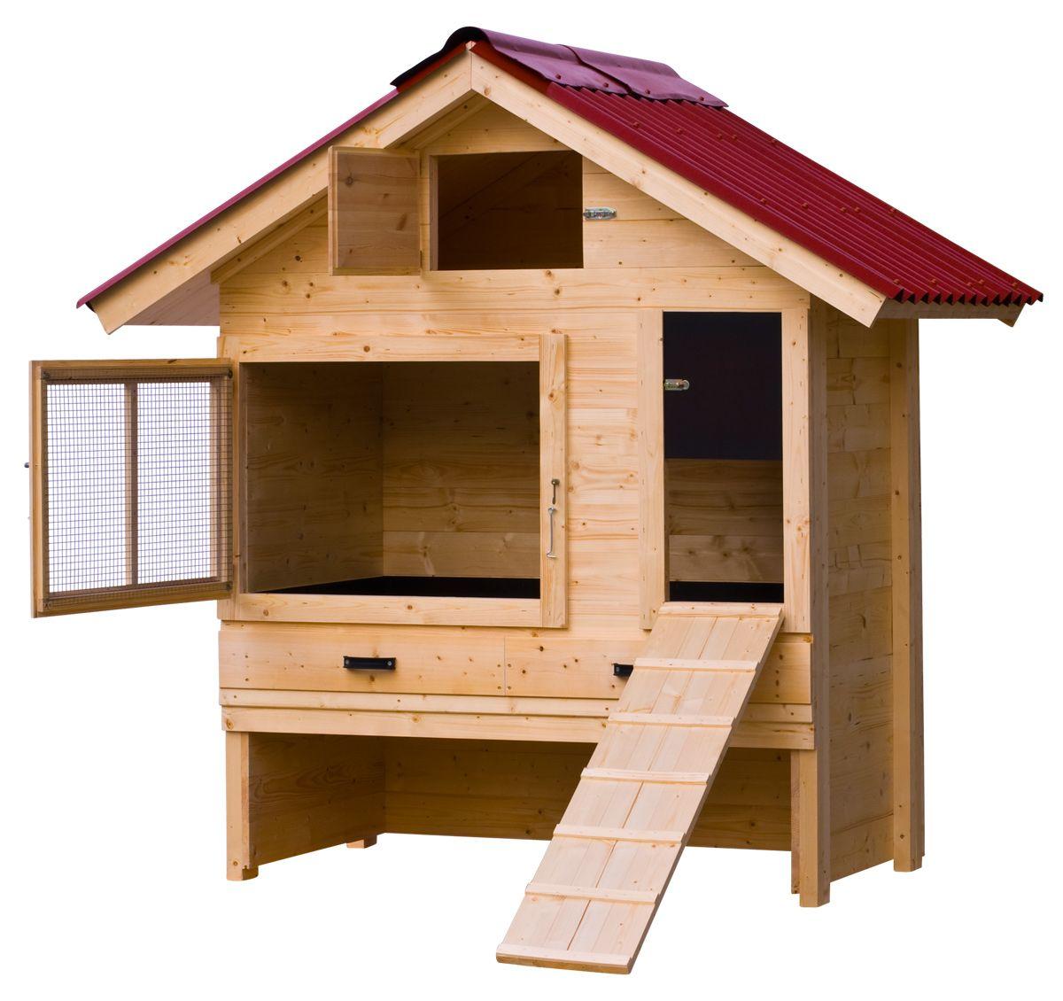 h hnerstall mit satteldach vollisoliert aus fichten. Black Bedroom Furniture Sets. Home Design Ideas