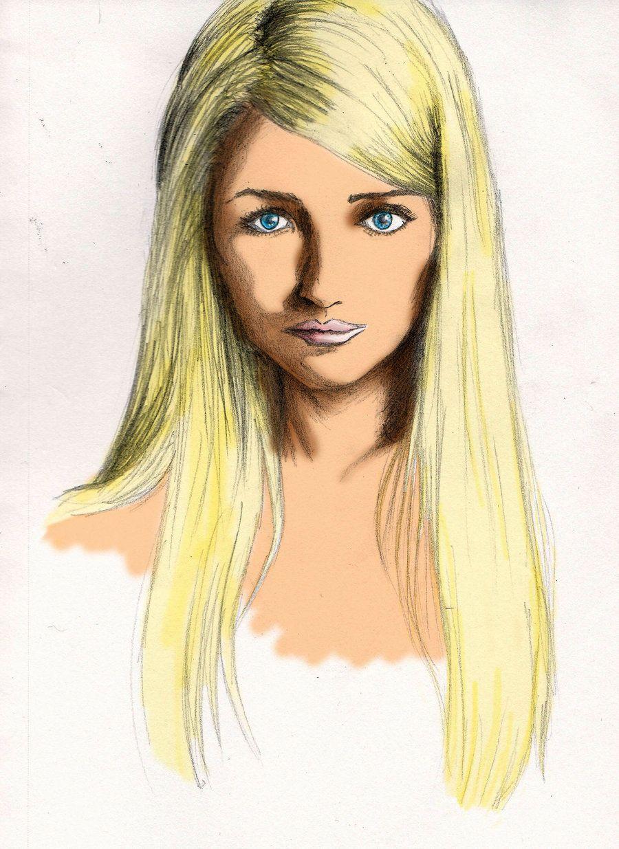 blonde hair art - illustration