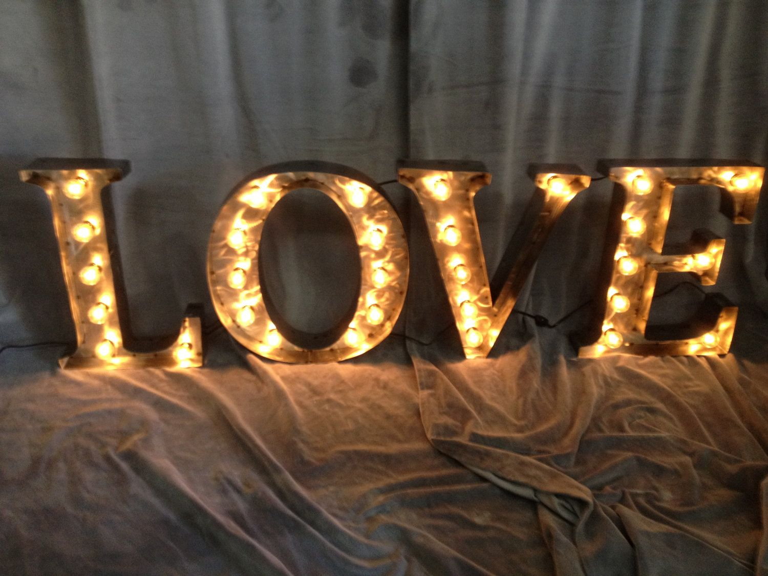 18 Inch Metal Letters Marquee Letters 18 Inch Tall Love Sign Polished Steel$465.00