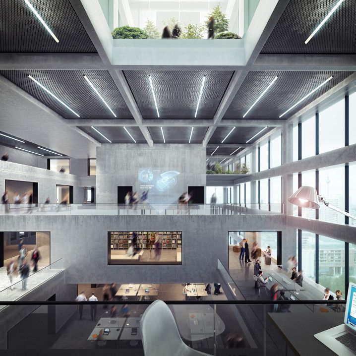 Axel springer verlag wettbewerbsvisualisierung interior architectural visualisation - Architekturvisualisierung berlin ...