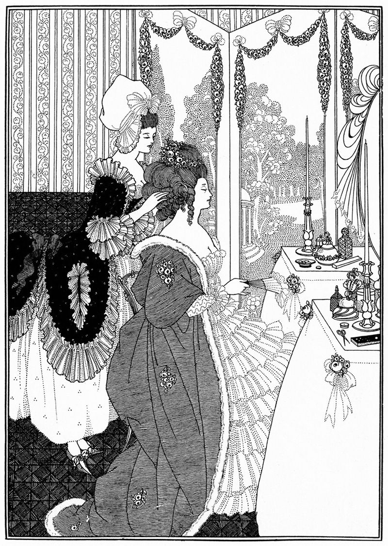 The Toilet. Illustration for 'The Rape of the Lock'. Aubrey Beardsley.
