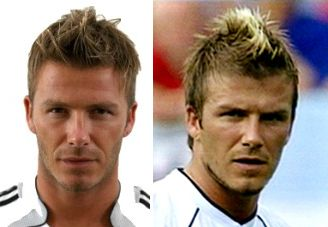 David Beckhams Short Mohawk Faux Hawk Messy Hairstyle Beckham Hairstyles