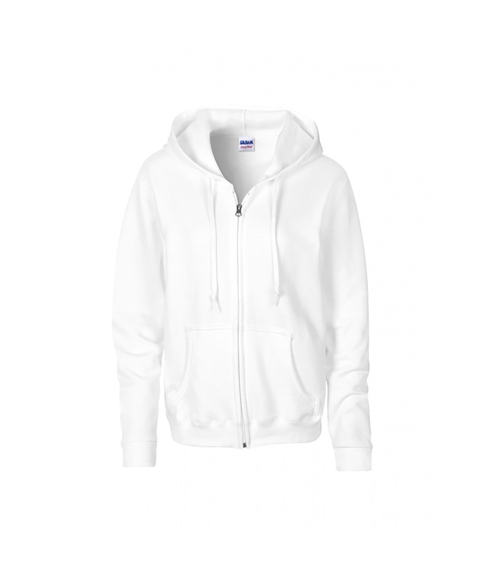 Gildan Youth Zip Up Hoodie In White Grey Or Light Grey Hoodies Womens Hoodies Hooded Sweatshirts [ 1900 x 1600 Pixel ]