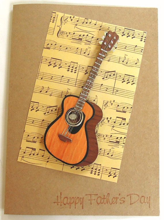 Handmade Father S Day Cards Acoustic Guitar Handmade