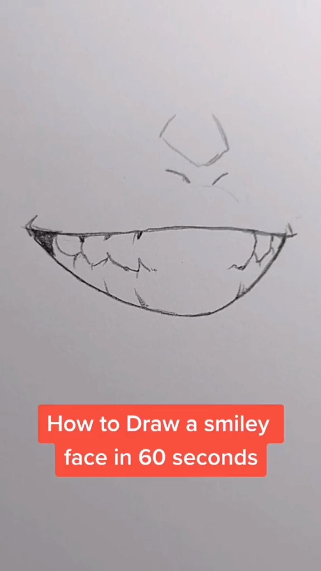 Anime Smiley mouth drawing