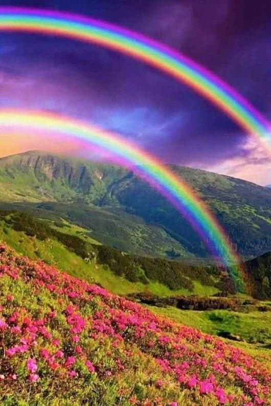 Дъга, красота! | Картины с изображением природы, Пейзажи ...