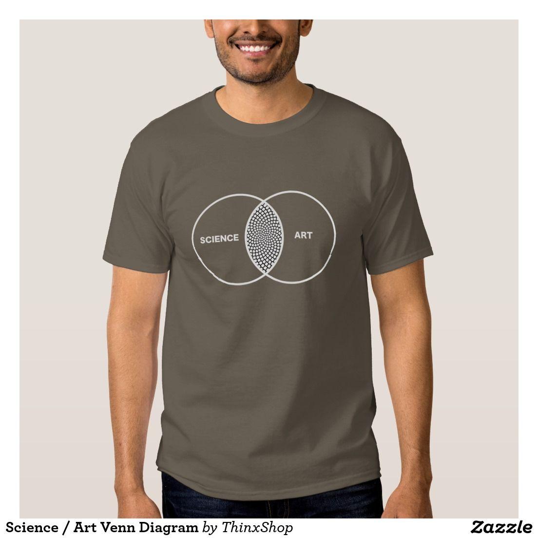 Science art venn diagram t shirt venn diagrams science art science art venn diagram t shirt pooptronica