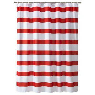 Tar Room Essentials Red & White Rugby Stripe Shower