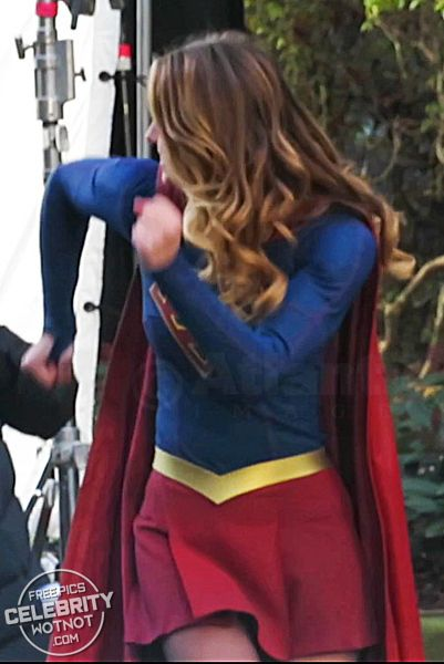 Supergirl's On Set Dance Off With Co-Star Peter Gadiot Melissa Benoist looks overjoyed to be back